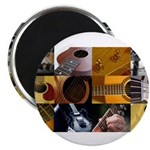 Guitar Photography Collage Magnet