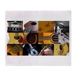 Guitar Photography Collage Throw Blanket
