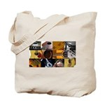 Guitar Photography Collage Tote Bag