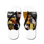 Guitar Photography Collage Flip Flops