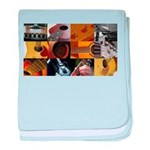 Guitar Photography Collage baby blanket