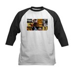 Guitar Photography Collage Kids Baseball Jersey