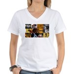 Guitar Photography Collage Women's V-Neck T-Shirt