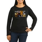 Guitar Photography Collage Women's Long Sleeve Dar