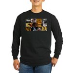 Guitar Photography Collage Long Sleeve Dark T-Shir