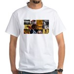 Guitar Photography Collage White T-Shirt