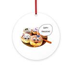 Happy Hanukkah Donuts Ornament (Round)