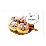 Happy Hanukkah Donuts Postcards (Package of 8)