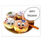 Happy Hanukkah Donuts Small Poster