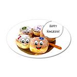 Happy Hanukkah Donuts 38.5 x 24.5 Oval Wall Peel