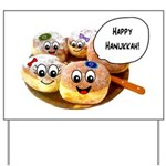 Happy Hanukkah Donuts Yard Sign