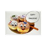 Happy Hanukkah Donuts Rectangle Magnet (100 pack)
