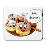 Happy Hanukkah Donuts Mousepad