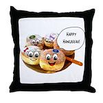 Happy Hanukkah Donuts Throw Pillow