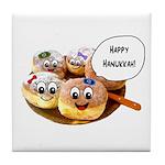 Happy Hanukkah Donuts Tile Coaster