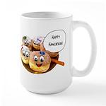 Happy Hanukkah Donuts Large Mug