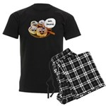 Happy Hanukkah Donuts Men's Dark Pajamas