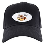 Happy Hanukkah Donuts Black Cap