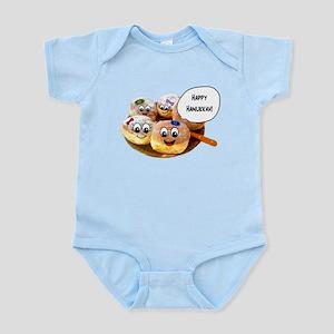 Happy Hanukkah Donuts Infant Bodysuit