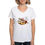 Happy Hanukkah Donuts Women's V-Neck T-Shirt