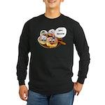 Happy Hanukkah Donuts Long Sleeve Dark T-Shirt