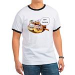 Happy Hanukkah Donuts Ringer T