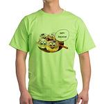 Happy Hanukkah Donuts Green T-Shirt