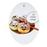 Chanukah Sameach Donuts Ornament (Oval)