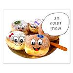 Chanukah Sameach Donuts Small Poster