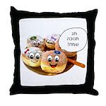 Chanukah Sameach Donuts Throw Pillow
