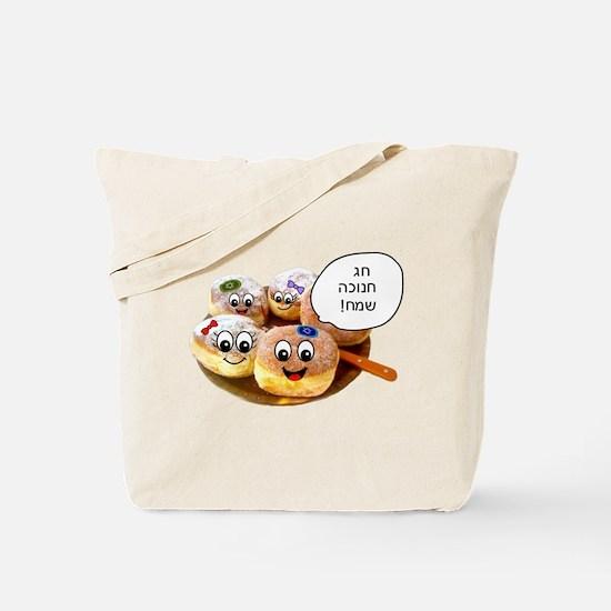 Chanukah Sameach Donuts Tote Bag