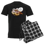 Chanukah Sameach Donuts Men's Dark Pajamas
