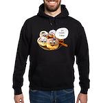 Chanukah Sameach Donuts Hoodie (dark)