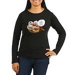 Chanukah Sameach Donuts Women's Long Sleeve Dark T