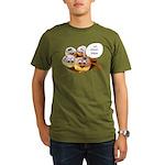 Chanukah Sameach Donuts Organic Men's T-Shirt (dar
