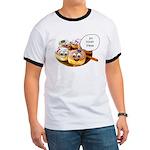 Chanukah Sameach Donuts Ringer T