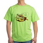 Chanukah Sameach Donuts Green T-Shirt