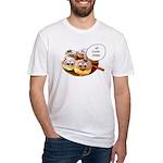 Chanukah Sameach Donuts Fitted T-Shirt