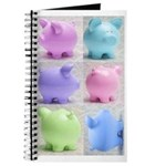 Colorful Cute Pigs Collage Journal