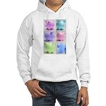 Colorful Cute Pigs Collage Hooded Sweatshirt