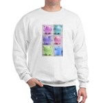 Colorful Cute Pigs Collage Sweatshirt