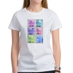 Colorful Cute Pigs Collage Women's T-Shirt