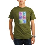 Colorful Cute Pigs Collage Organic Men's T-Shirt (
