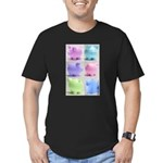 Colorful Cute Pigs Collage Men's Fitted T-Shirt (d