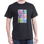 Colorful Cute Pigs Collage Dark T-Shirt