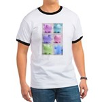 Colorful Cute Pigs Collage Ringer T