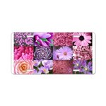 Pink Flowers Photography Coll Aluminum License Pla
