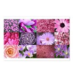 Pink Flowers Photography Coll Postcards (Package o