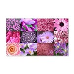 Pink Flowers Photography Coll 22x14 Wall Peel