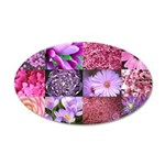 Pink Flowers Photography Coll 22x14 Oval Wall Peel